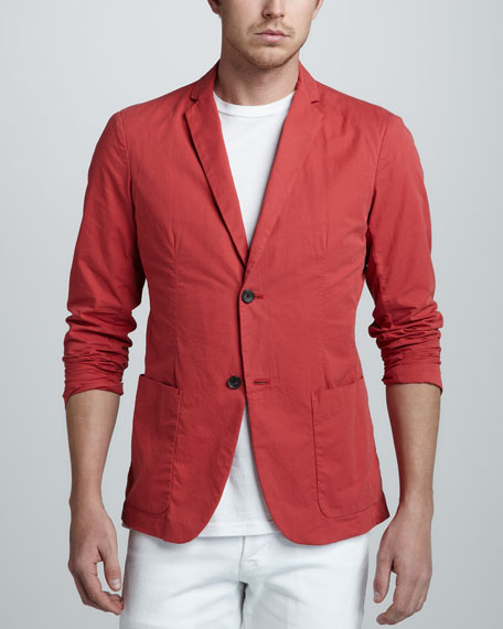 Kendrick Two-Button Jacket, Red