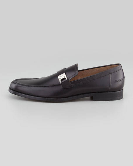 Pregiato Leather Moccasin, Black