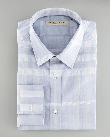 Check Dress Shirt, Blue