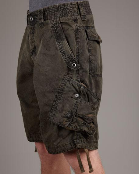Remix Camo Shorts, Olive