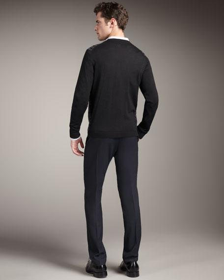 Slim Stretch-Wool Pants