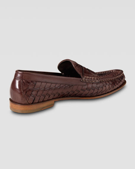 Air Tremont Woven Penny Loafer, Mahogany