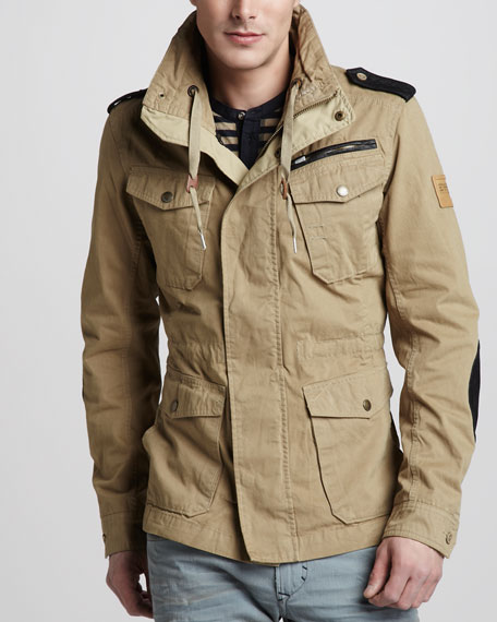 Drawstring Military Jacket