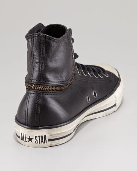 All Star Convertible-Zip Hi-Top Sneaker, Black
