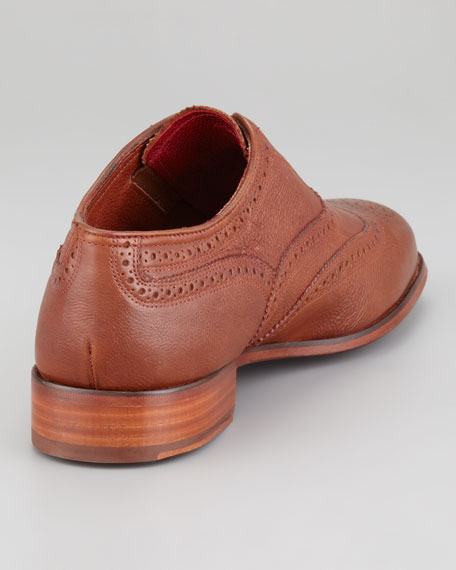 The Laceless Wing-Tip, Cognac
