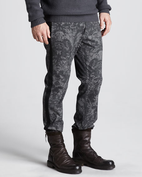 Printed Slim Pants