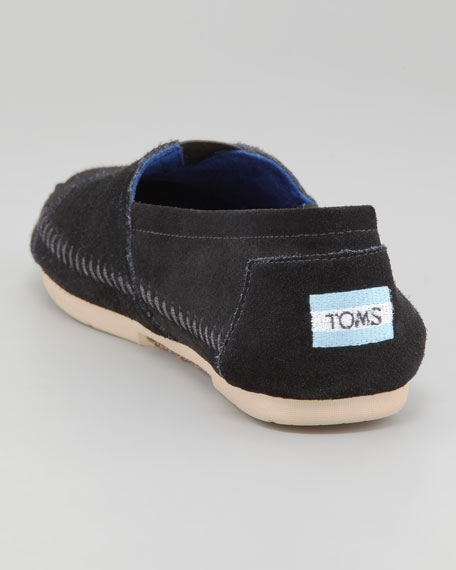 Suede Slip-On, Black