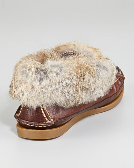 Homer Rabbit-Fur Trim Slipper