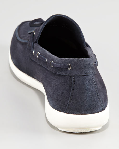 Hampton Suede Boat Shoe, Blue
