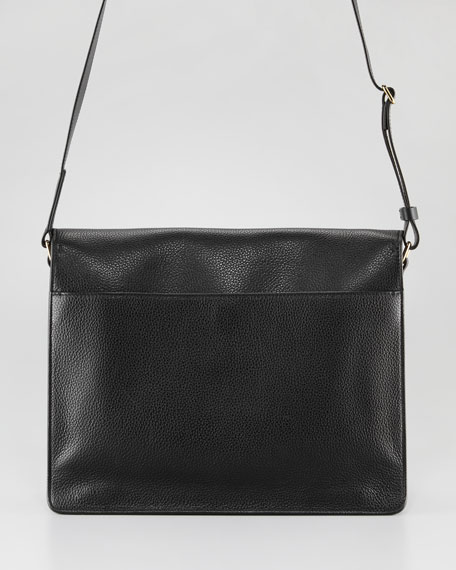 Buckley Flap Messenger Bag, Black