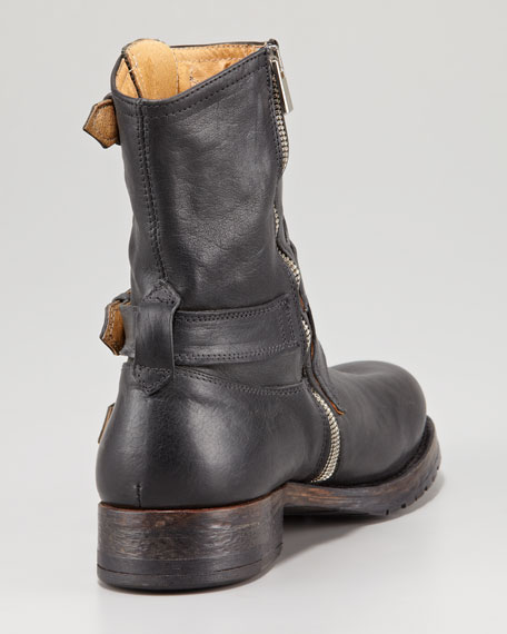 Three-Buckle Motorcycle Boot