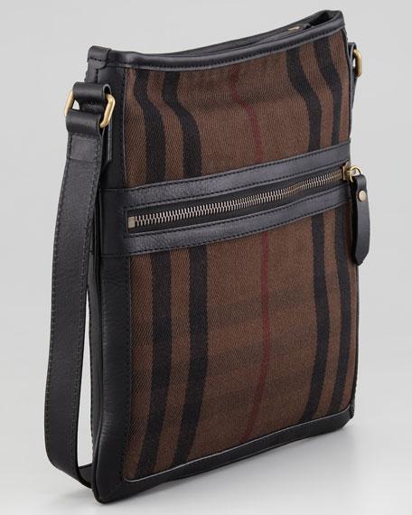Small Check Messenger Bag, Brown