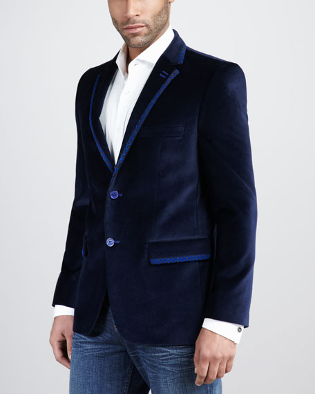 Thomas Velour Blazer