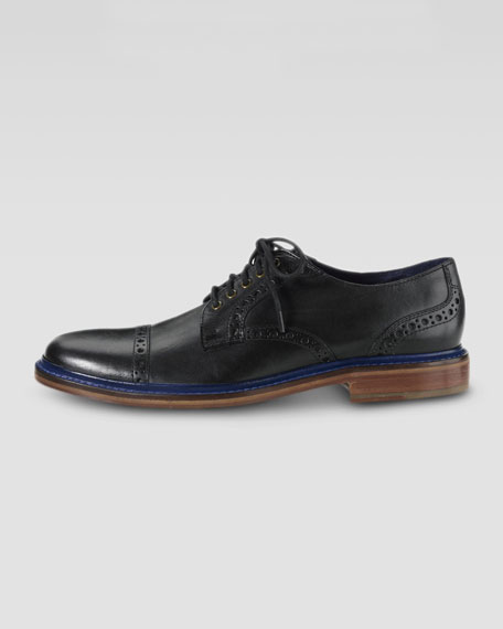 Air Harrison Cap-Toe Shoe, Black