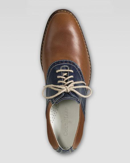 Air Colton Saddle Shoe, Tan/Blue