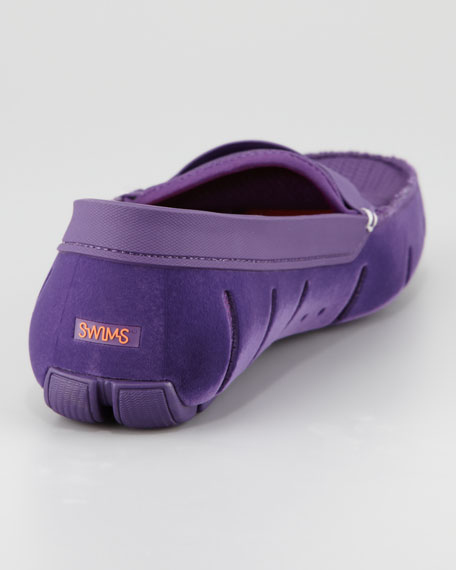 Braided Rubber/Mesh Penny Loafer, Purple