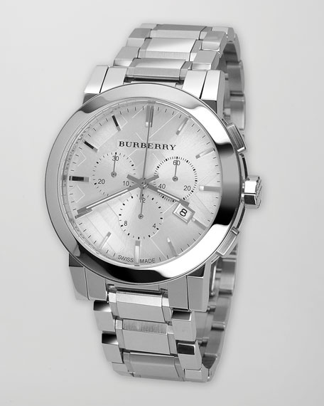 Classic Chronograph Watch, White