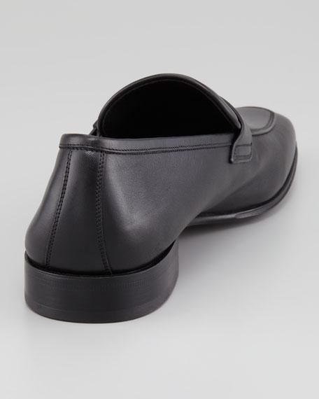 Tincino Buckled-Bit Loafer, Black