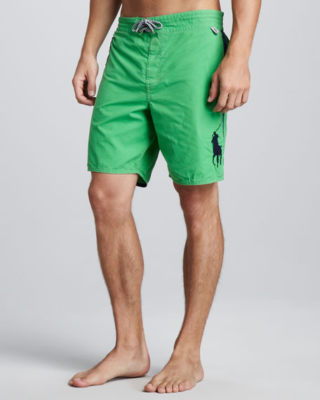 Sanibel Swim Trunks, Green/Blue