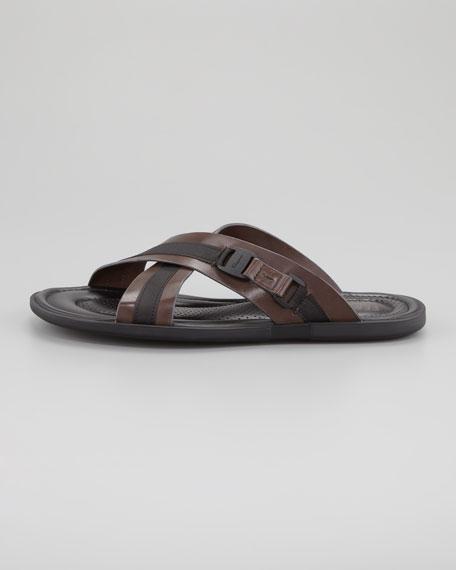 Tolis Two-Tone Crisscross Sandal