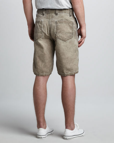 Cowboy Canvas Shorts, Olive Wash
