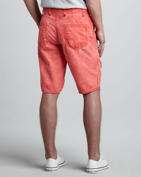 Cowboy Canvas Shorts, Watermelon Ice Wash