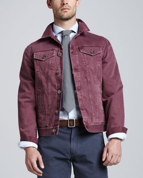 Denim Jacket, Cherry