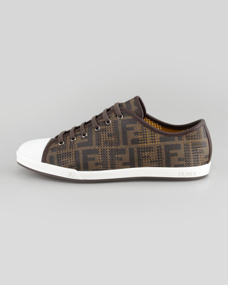 Ace Perforated Low-Top Zucca Sneaker