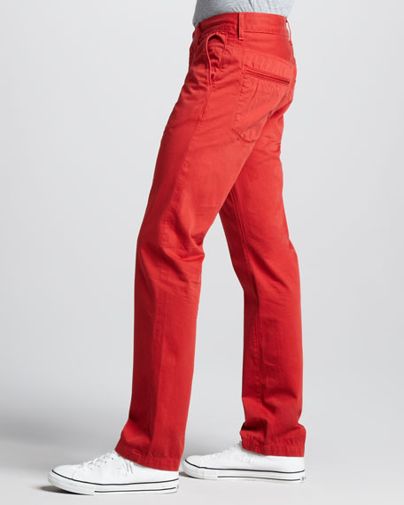Slimmy Twill Pants, Passion Red
