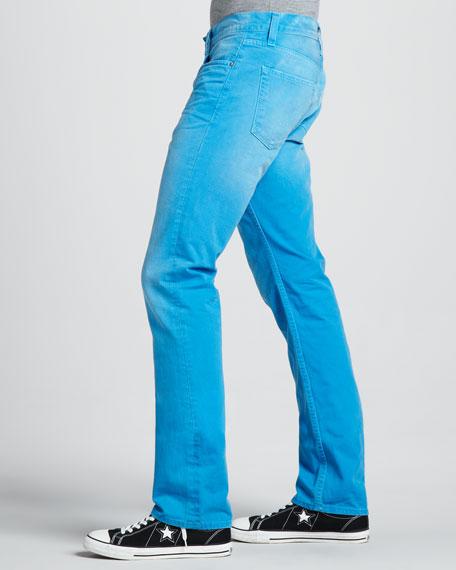Kane Slim Cyan Blue Jeans
