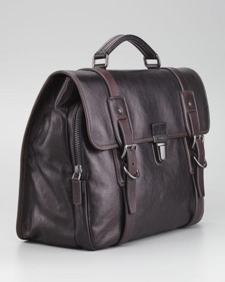 Glace Buckle Briefcase Bag