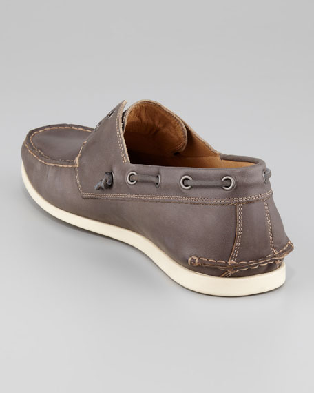 Schooner Boat Shoe, Dark Gray