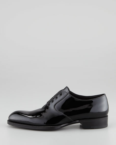 Edward Patent Leather Oxford, Black