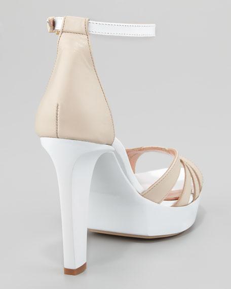 Tame Ankle-Strap Sandal, Moon White