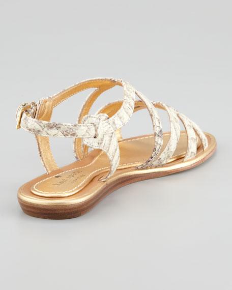 intro snake-print sandal