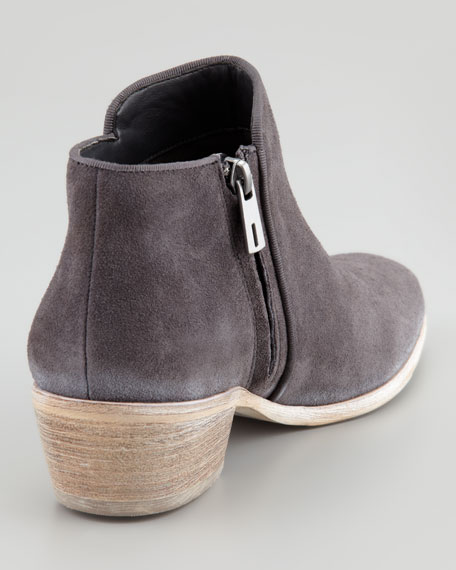 Petty Suede Ankle Boot, Navy