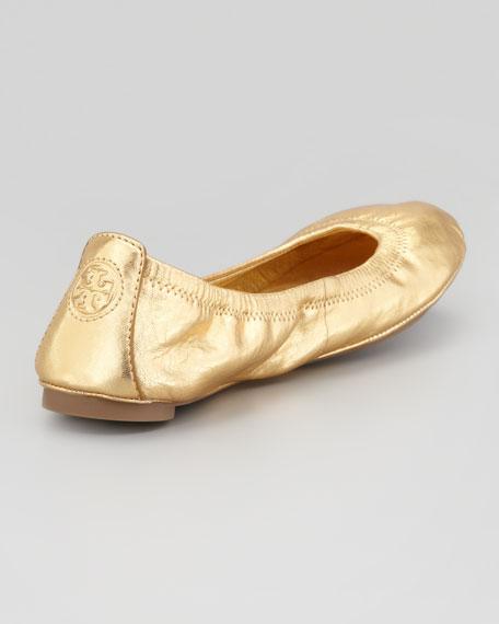 Eddie Metallic Ballet Flat, Gold