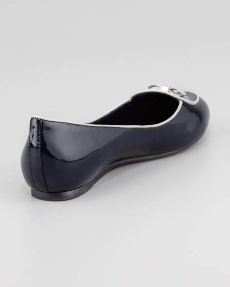 Dakota Patent Belgian Loafer, Navy