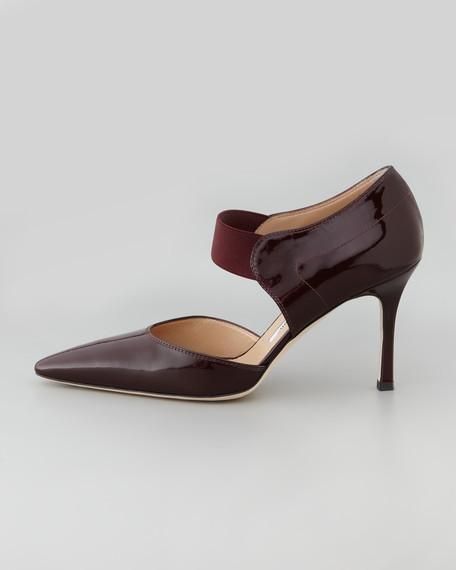 Timen Patent Leather Ankle-Strap Pump