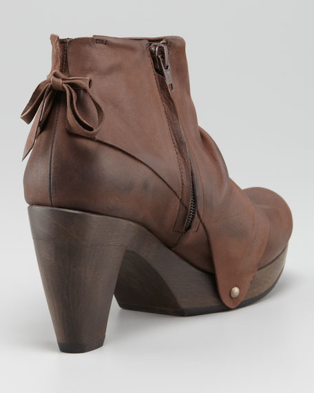 Ndakinna Draped Leather Bootie