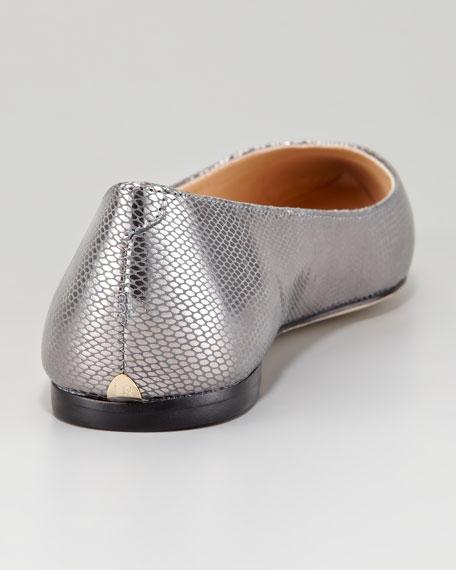 Natalie Metallic Leather Ballet Flat