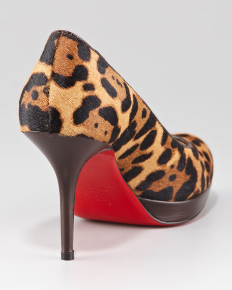 Prorata Leopard-Print Red Sole Pump