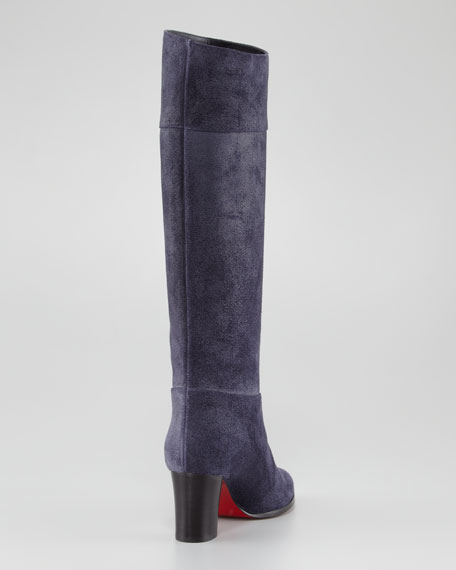 Dartata Suede Knee Red Sole Boot