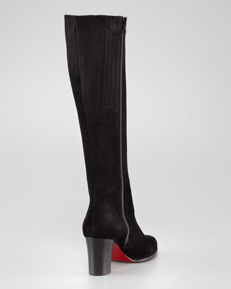 Yvanna Side-Zip Fitted Knee Red Sole Boot