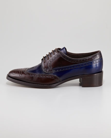 Bi-Color Lace-Up Loafer