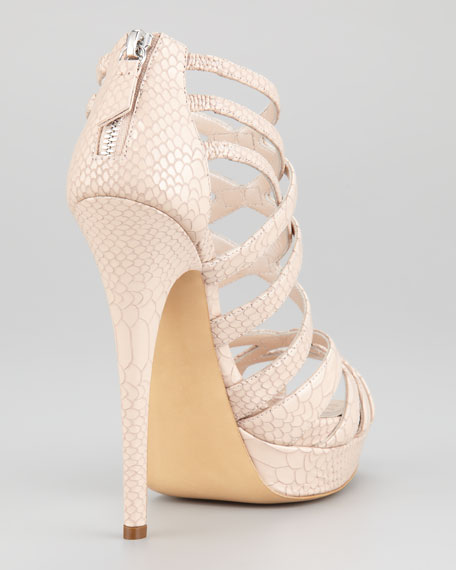Strappy Platform Patent Leather Sandal