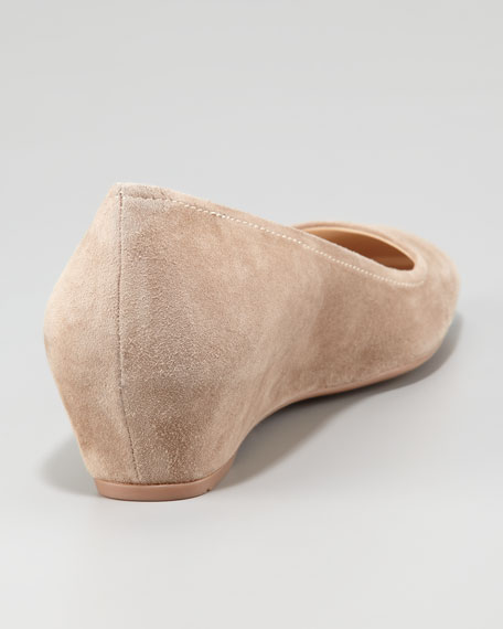 Suede Covered Wedge