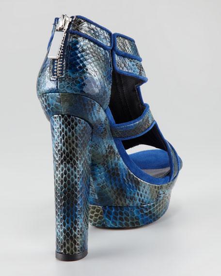 Peggy Snakeskin Platform Sandal