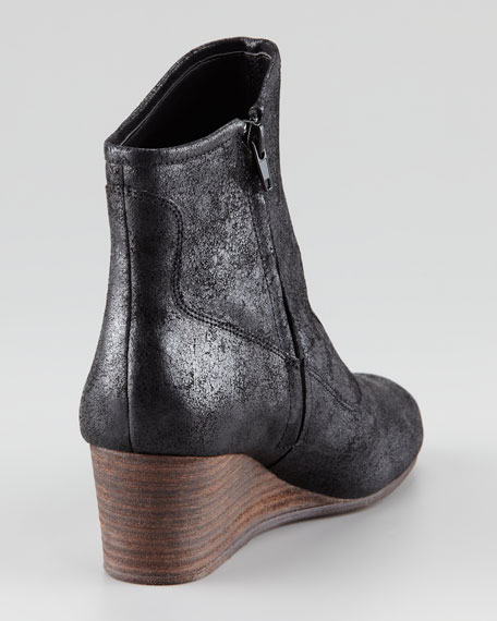 Tracey Shiny Leather Wedge Bootie