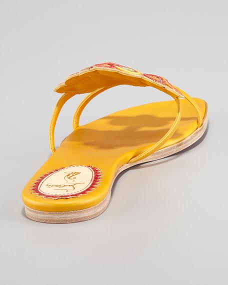 Copte Passementerie Flat Red Sole Sandal